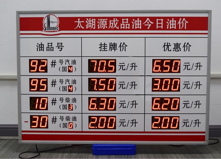 钦州油价LED显示屏